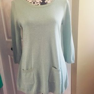 Seafoam green summer sweater with pockets